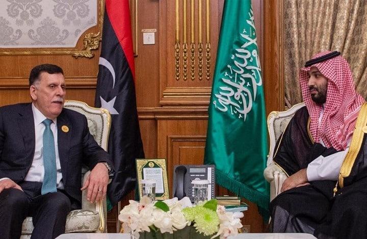 """""""السراج"""" يلتقي """"ابن سلمان"""" ويطالبه بوقف دعم """"حفتر"""" لحقن دماء الليبيين"""