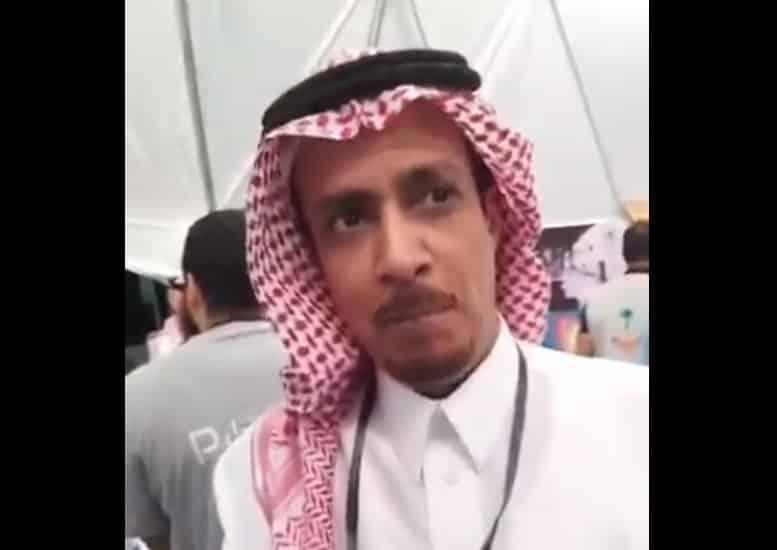 """مشهد محزن للصحفي المعتقل """"صالح الشيحي"""" من داخل سجن ذهبان"""