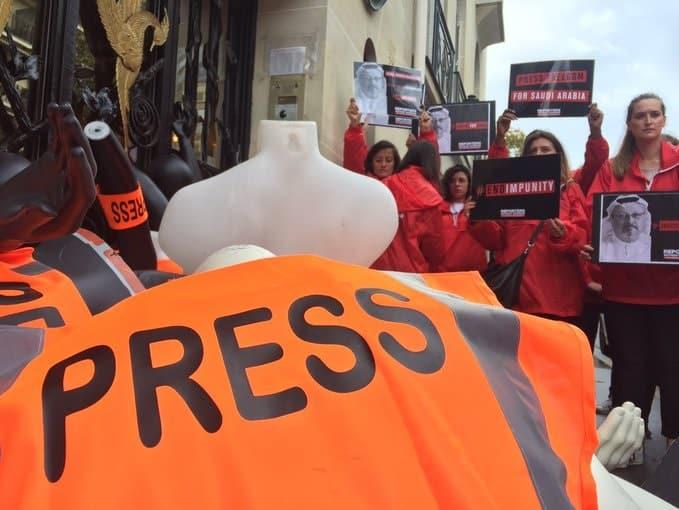"""وقفات احتجاجية بباريس ولندن في الذكرى الأولى لقتل """"خاشقجي"""""""