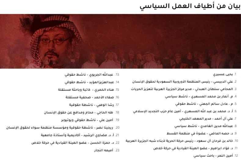 """أطياف العمل السيساسي السعودي بالخارج ترفض أحكام قضية """"خاشقجي"""""""