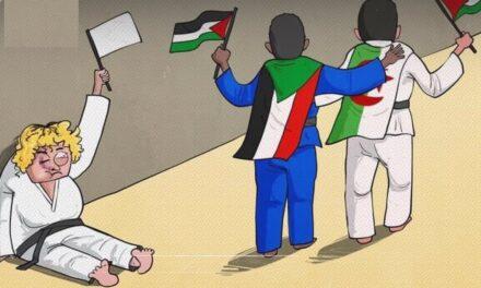 الذباب السعودي يهاجم رسام كاريكاتير فلسطيني بعد انتقاده لاعبة الجودو